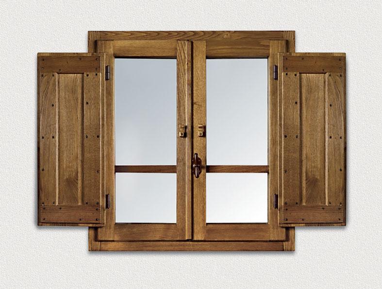 Cmb infissi finestra retr in legno massello di castagno for Infissi esterni in legno