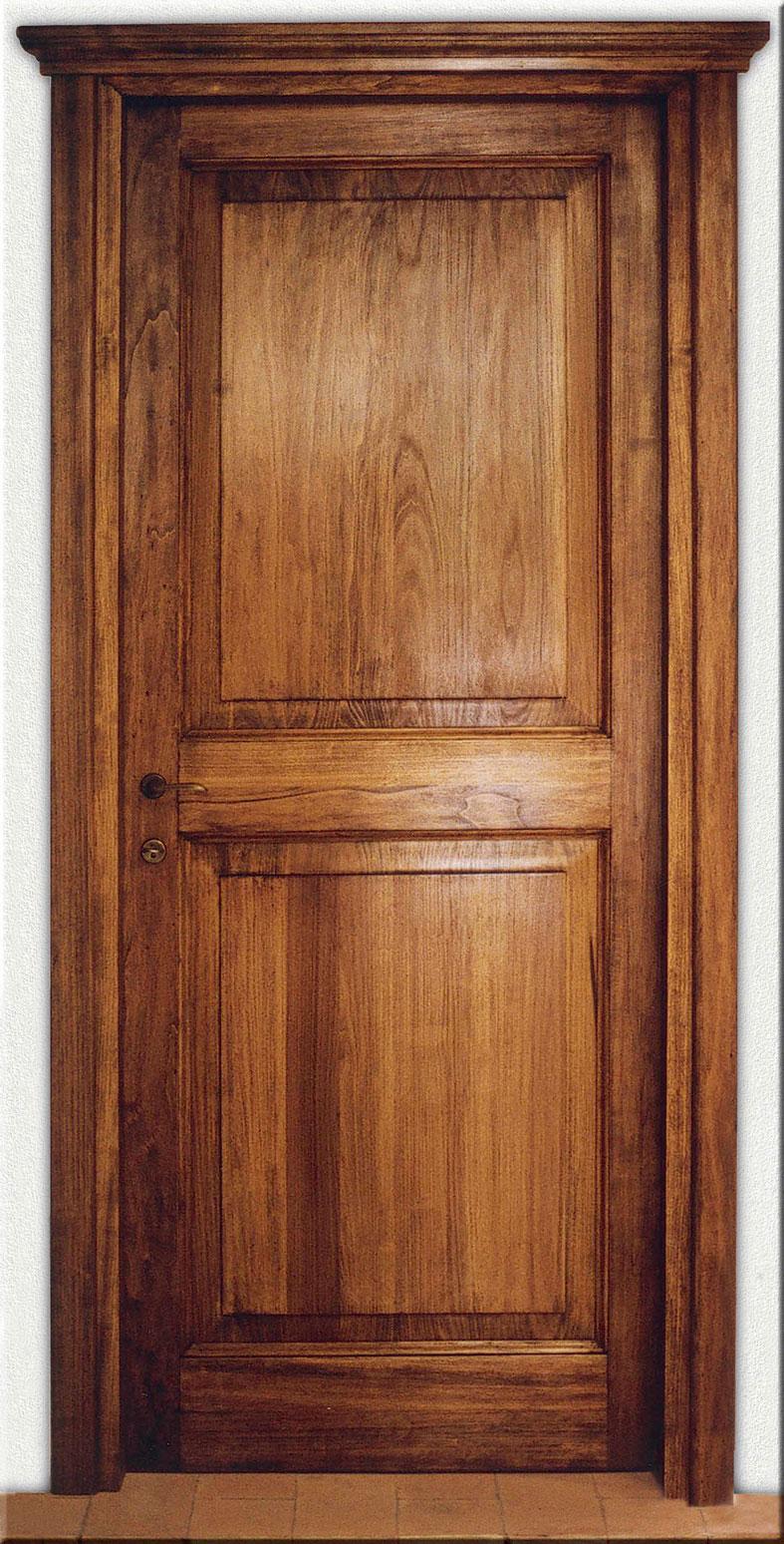 Porta 900 2bu retr in legno massello di pioppo for Porte in legno grezzo