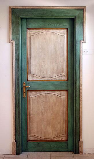 porte in legno massello moderne con dipinti a mano e prodotti ...