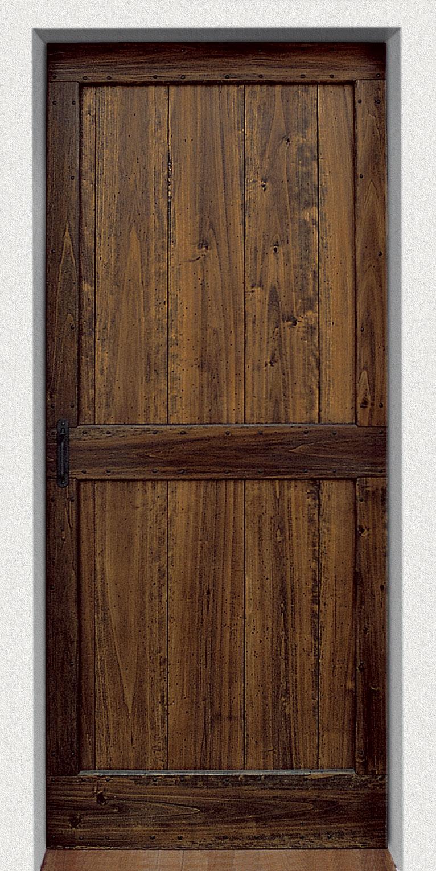 PORTA mod. 801 in legno massello complete di telaio a toppa, finitura ...