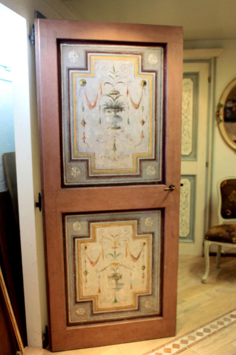 PORTA mod. Oro 801 in legno massello gessato, patinata e decorata a ...
