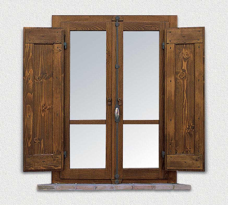 Finestra in legno massello di castagno mod style - Aprire finestra muro esterno ...