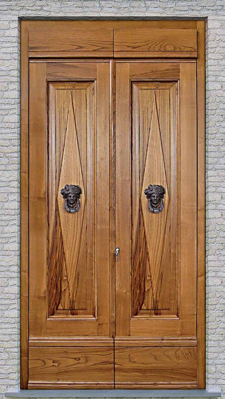 Cmb infissi modello portone patronale in legno massello di - Portoni da esterno prezzi ...