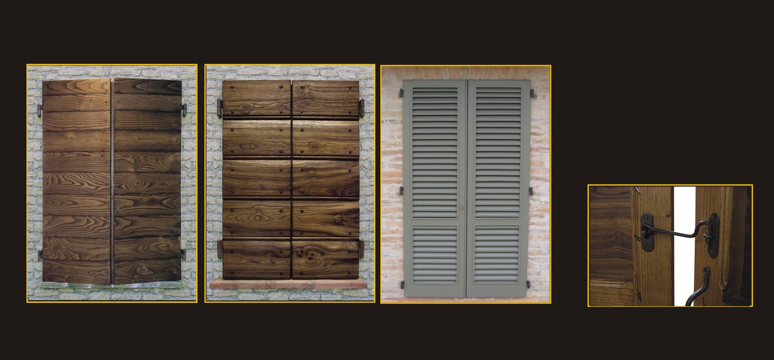 Cmb serramenti infissi porte finestre legno massello - Maniglie per finestre in legno ...