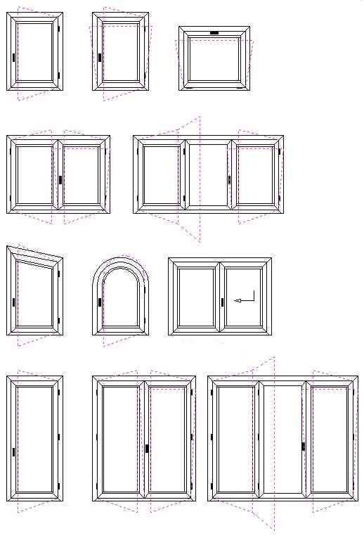 Sezioni e misure infissi e serramenti legno massello - Misure infissi finestre ...